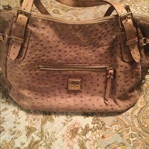 Dooney & Bourke ostrich leather bag